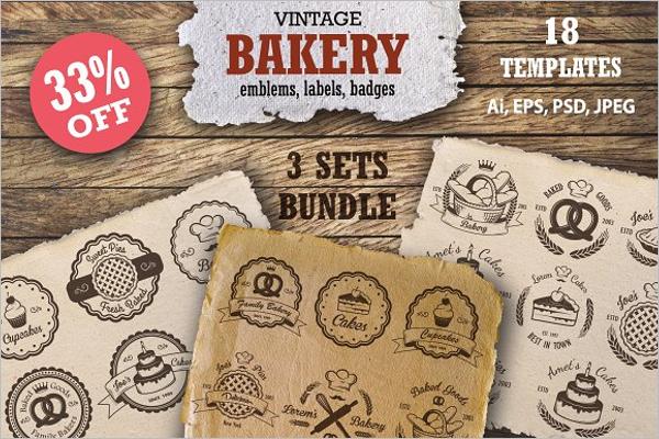 Bakery Set Menu Template