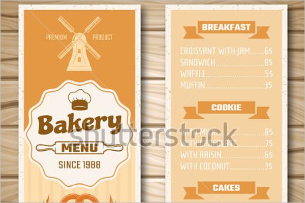 Bakery Shop Menu Template