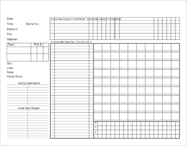 Baseball Scorecard Template In Excel