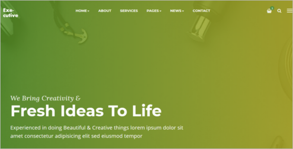 Basic HTML Website Template