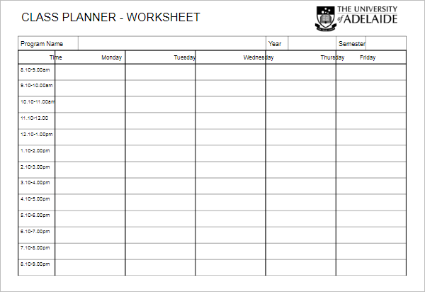 Basic Worksheet Template PDF