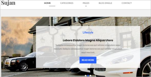 Best Blog Website Template
