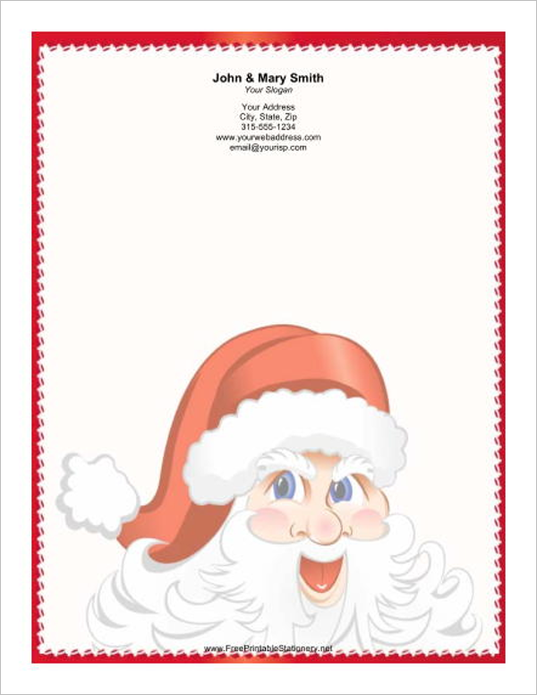 15 christmas letterhead templates free word designs creative best christmas letterhead template spiritdancerdesigns Images