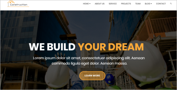 Best Construction Company Website Theme