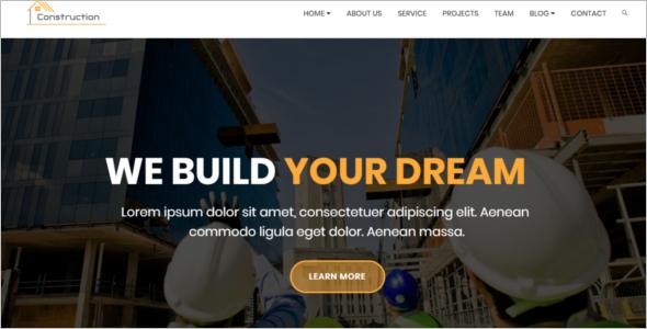 Best Construction Company Website Theme