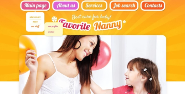 Best Family Website Template