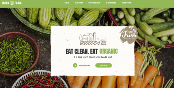 Best Farming Website Template