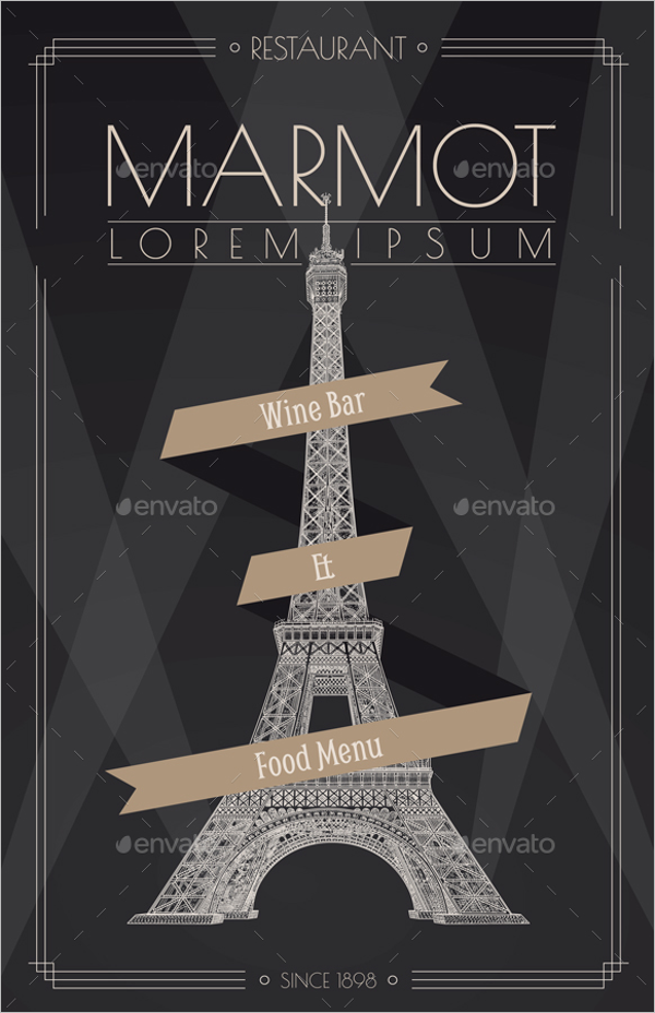 Best French Menu Template