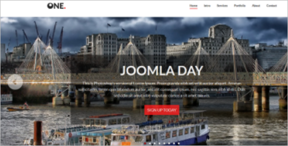 Best One Page Joomla Website Theme