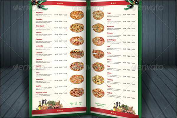 Best Pizza Menu Template