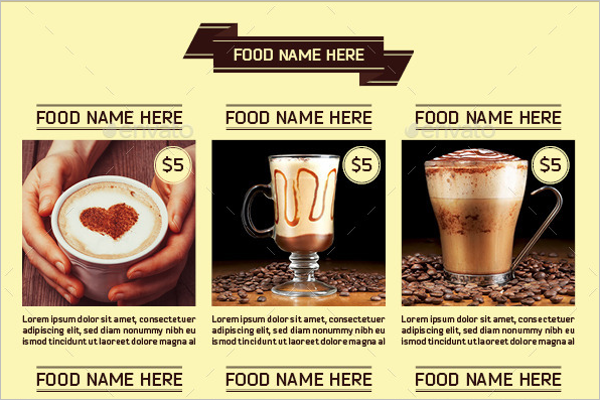BiFold Coffee Menu Template