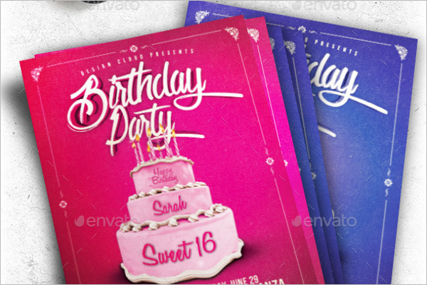 Birthday Cake Flyer Template