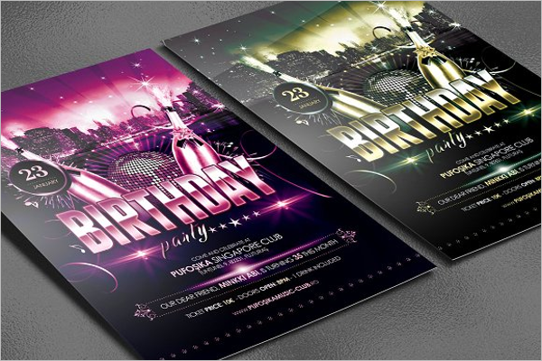 Birthday Party Poster Design
