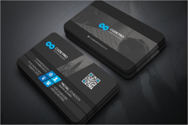 Black Visiting Card Design
