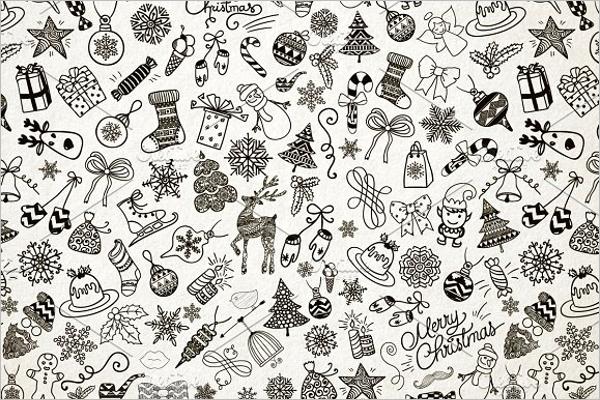 Black & White Christmas Patterns