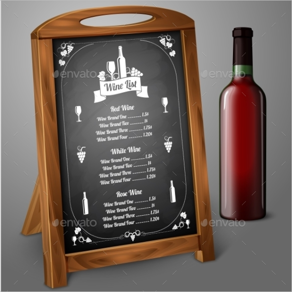 Blackboard Menu Design