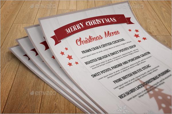 Blank Christmas Menu Template