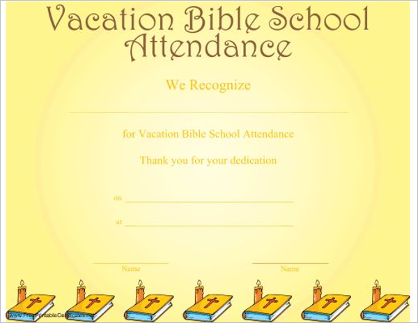 Blank Church Certificate Template