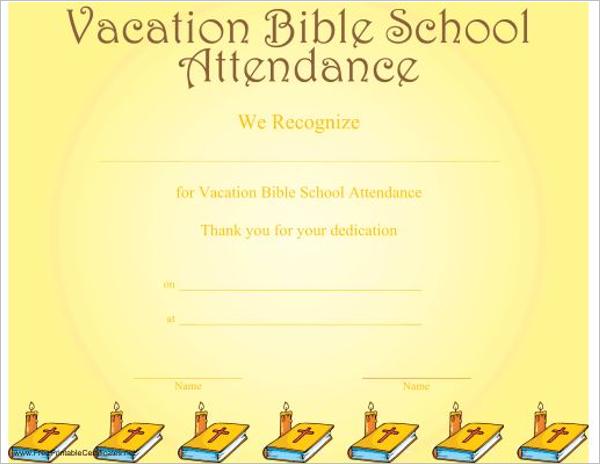 Blank Church Certificate Template
