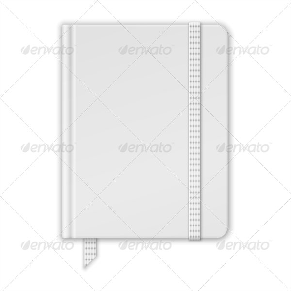 Blank White Notebook Template
