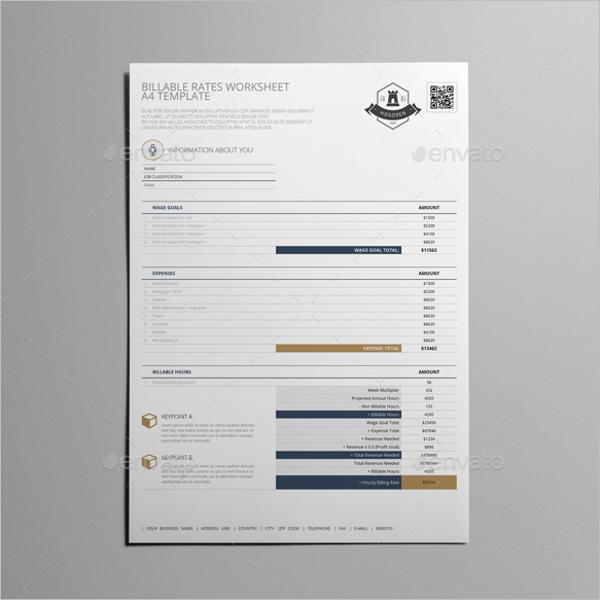 Blank Worksheet Template