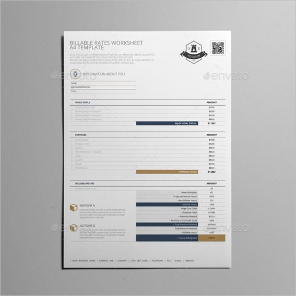 Blank Worksheet Template