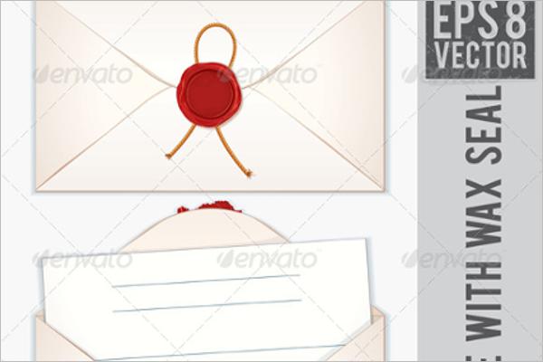 Blank Christmas Envelope Template