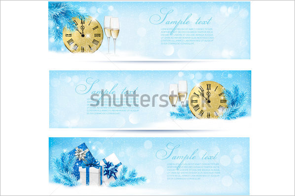 Blue Christmas Banner Design