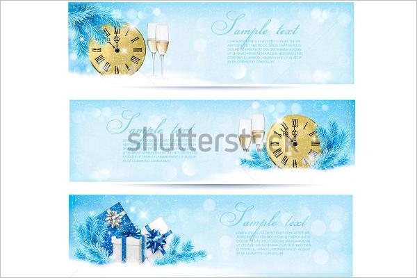 Blue Christmas Banner Design