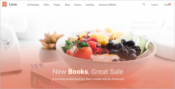 Book Author Website Template