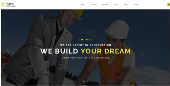 Bootstrap Construction Website Template