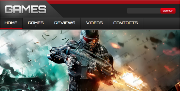 Bootstrap Gaming Website Template