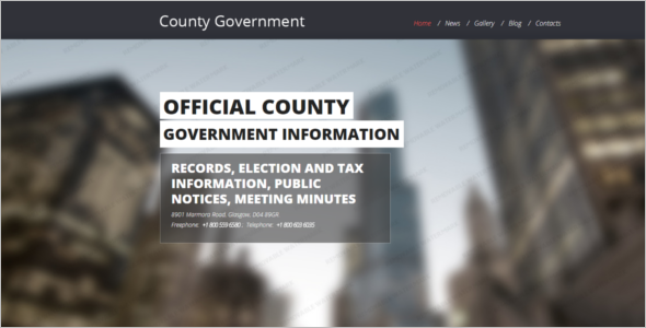 Bootstrap Government Template