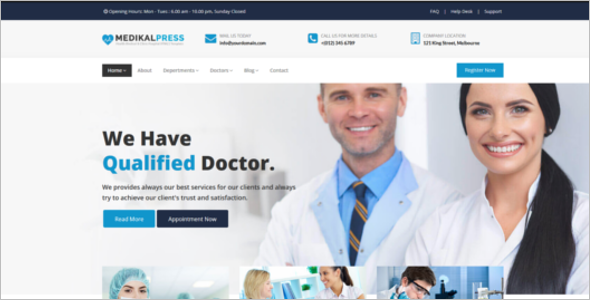Bootstrap Hospital Website Template