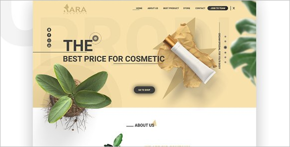 Brand Cosmetic Website Template