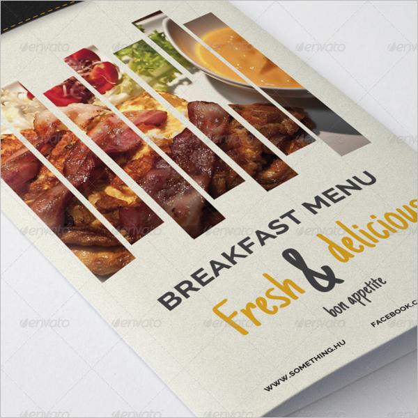 Breakfast Menu Design Template