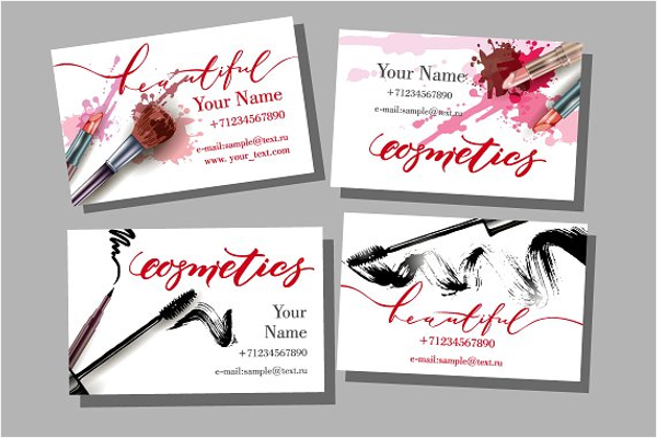 Bridal Makeup Business Card Template