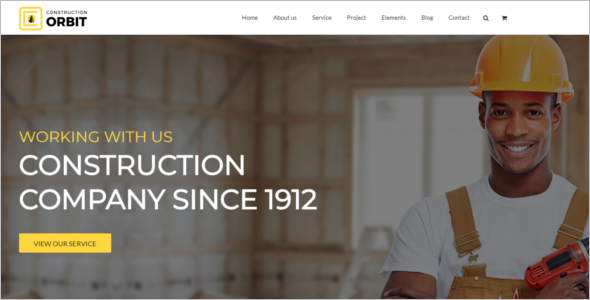 Building Construction Website Template