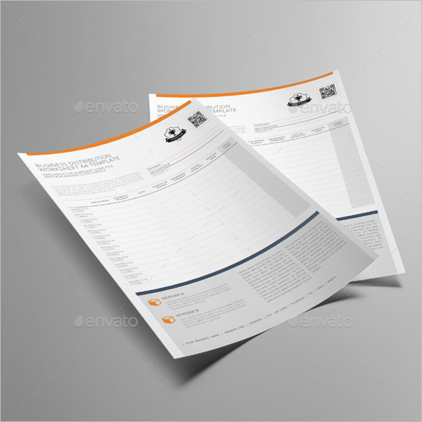 Business Worksheet Template