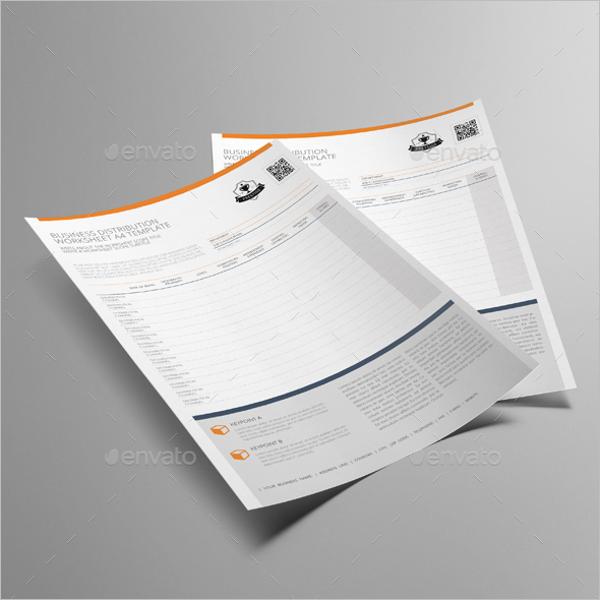 Business Worksheet Template