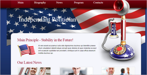 CSS Template Free Download For Government Website