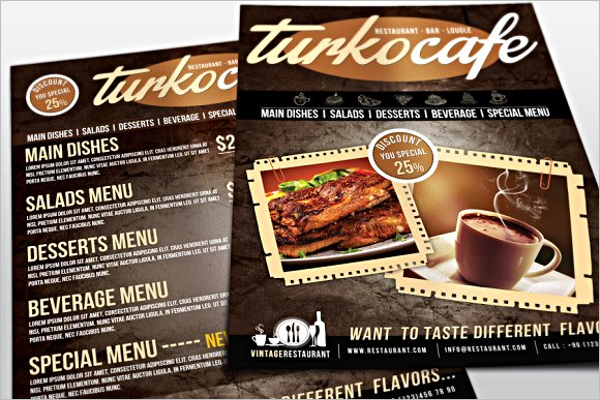 Cafe & Restaurant Menu Template