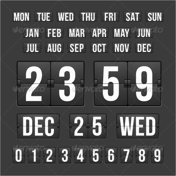 Calendar Scoreboard Template