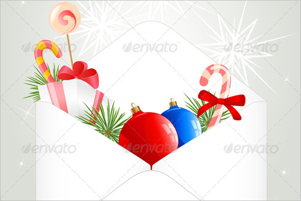 Candy Christmas Envelope Template