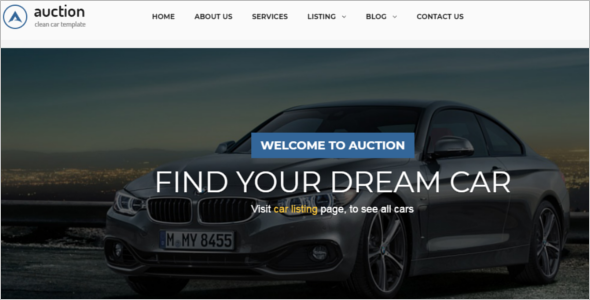 Car Auction Website Template