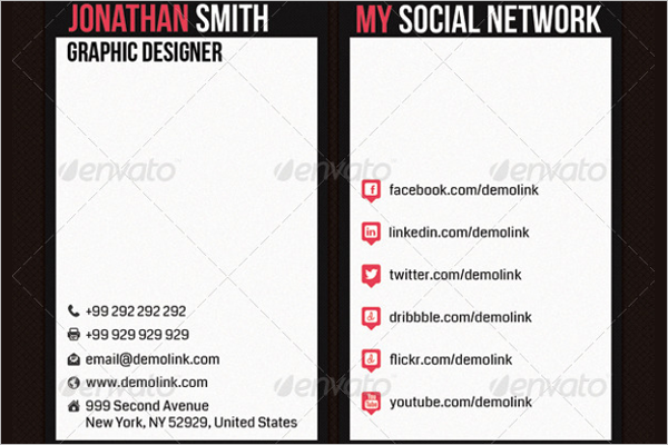 Career Networking Business Card Template