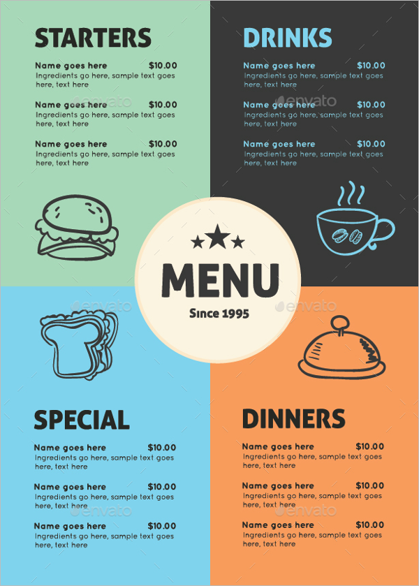 Catering Menu Template PSD