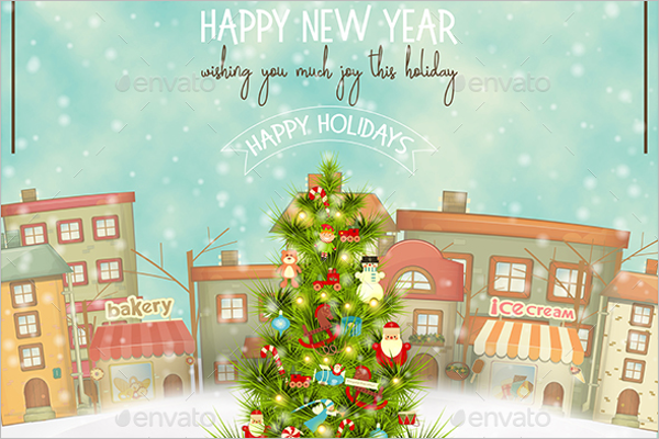 Celebration Christmas Greeting Design