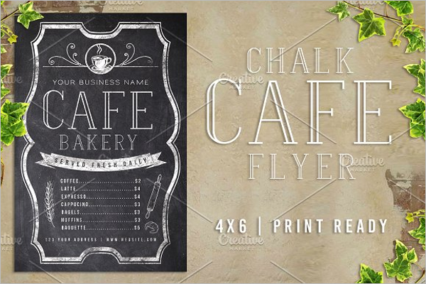 Chalk Cafe Menu Template