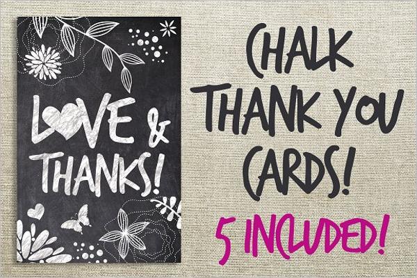 Chalk Thank You Cards Bundle